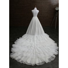 Women Nylon Cathedral Train 1 Tiers Petticoats