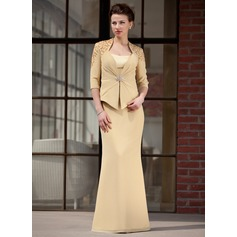 Trumpet/Mermaid Sweetheart Floor-Length Chiffon Charmeuse Mother of the Bride Dress