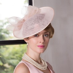 Dames Romantische Batist Fascinators/Kentucky Derby Hats/Theepartij hoeden