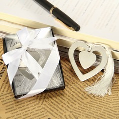 Heart-Shaped Bookmark with Elegant Silk Tassel