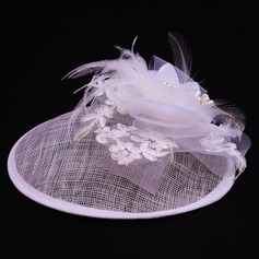 Ladies' Lovely Cambric/Tulle With Silk Flower Fascinators