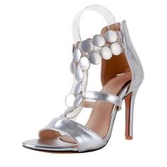 المرأة براءات الاختراع والجلود كعب ستيليتو صنادل مضخات تو زقزقة مع سحاب أحذية