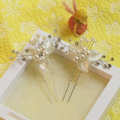 Ladies Exquisite Rhinestone/Imitation Pearls Hairpins (Set of 2)