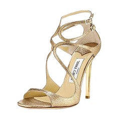 Women's PU Stiletto Heel Sandals Pumps Peep Toe With Buckle shoes (087157086)