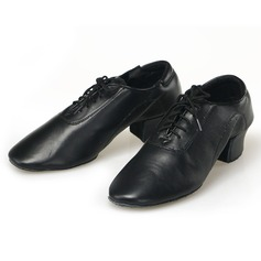 Men's Leatherette Pumps Sneakers Latin Ballroom Practice Character Shoes With Lace-up Dance Shoes