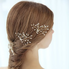 Ladies Gorgeous Alloy Hairpins With Venetian Pearl (Sold in single piece)