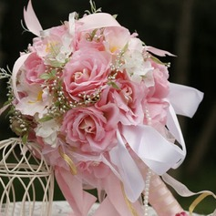 Dreamlike Round Satin Bridal Bouquets