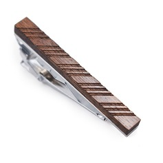 Classic Modern Wood Tie Clip
