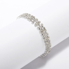 Alloy med Rhinestone Ladies' armband