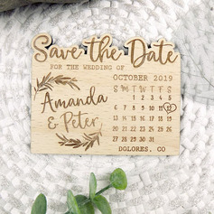 Personalized Perpetual Calendar Wooden Save-the-date Magnets