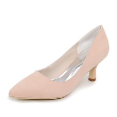 Women's Suede Stiletto Heel Pumps With Others