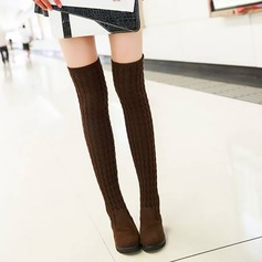Women's Suede Flat Heel Flats Wedges Boots Over The Knee Boots With Others shoes