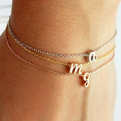Bridesmaid Gifts - Personalized Solid Color Alloy Bracelet