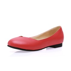 Women's Leatherette Flat Heel Flats Closed Toe shoes (086065377)
