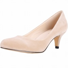 Women's Suede Cone Heel Pumps Closed Toe shoes (085113526)