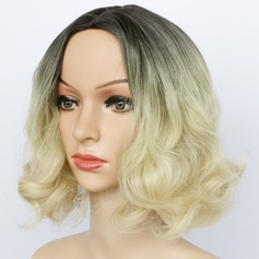Body Wavy Mid-Length Synthetic Wigs African American Wigs