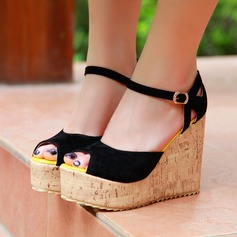 Women's Suede Wedge Heel Platform shoes