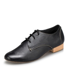 Men's Leatherette Flats Latin Ballroom Practice Character Shoes With Lace-up Dance Shoes