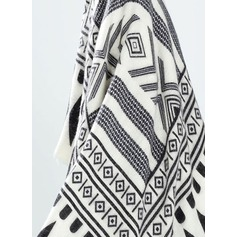 Striped/Zebra Oversized/Shawls Poncho