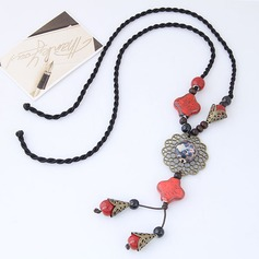 Beautiful Alloy Ceramic Braided Rope Women's Fashion Necklace (Sold in a single piece)
