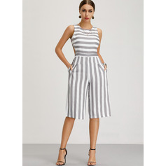Cotton/Linen With Print Midi Dress (199222278)