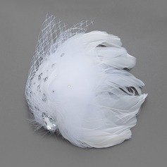 Gorgeous Feather/Tulle Fascinators With Rhinestone