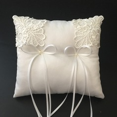 Elegant Ring Pillow in Satin/Lace With Ribbons