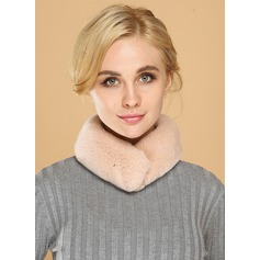 Solid Color Neck/attractive/simple Rex Rabbit Hair Scarf
