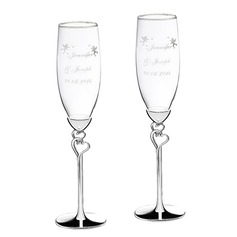 Personalized Angel Design Alloy Glass Toasting Flutes (2 Pieces) (129061697)