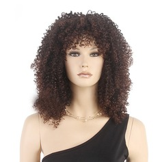 Curly Syntetisk Lace Front Parykker 180g