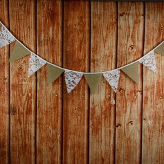 Triangle Lace/Linen Photo Booth Props