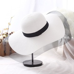 Ladies' Beautiful Rattan Straw Floppy Hat/Beach/Sun Hats