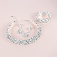 Shining Alloy/Rhinestones Ladies' Jewelry Sets