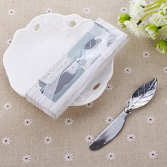 Leaf Design Chrome Cheese Spreader