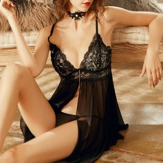 Lace/Tulle Simple And Elegant Lingerie Set