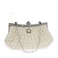 Elegant Satin/Pearl Clutches/Wristlets/Bridal Purse/Evening Bags