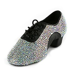 Leatherette Flats Latin Ballroom Wedding Party Dance Shoes With Rhinestone