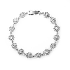 Shining Alloy/Zircon Ladies' Bracelets