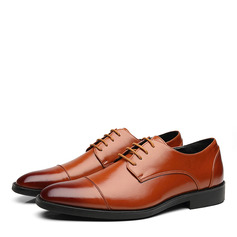 Men's Leatherette Cap Toes Lace-up Dress Shoes Men's Oxfords (259187609)