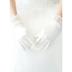 Lace/Satin Wrist Length Bridal Gloves