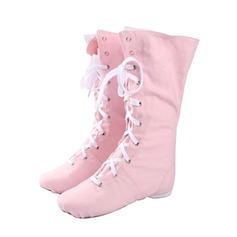 Women's Kids' Canvas Boots Jazz Dance Shoes