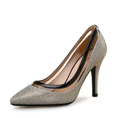 Women's Sparkling Glitter Stiletto Heel Pumps Closed Toe With Sparkling Glitter Split Joint shoes