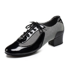 Men's Canvas Leatherette Heels Modern Dance Shoes
