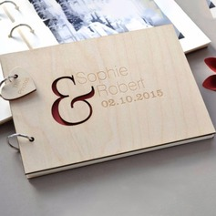Personalized design Wood Guestbook (101198161)