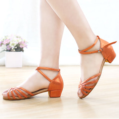 Kids' Leatherette Latin Party With Ankle Strap Dance Shoes