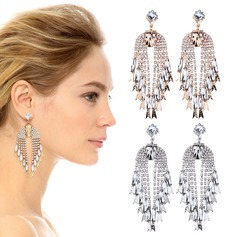 Beau Alliage Strass Dames Boucles d'oreille de mode (137116958)