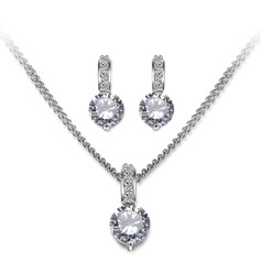 Elegant Zircon Ladies' Jewelry Sets