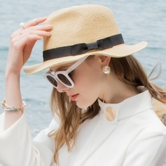 Ladies' Glamourous/Simple Raffia Straw Beach/Sun Hats