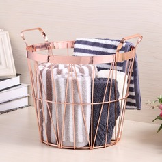 Storage Basket Stainless Steel Simple Clear Table Centerpieces