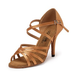 Women's Satin Sandals Latin Dance Shoes